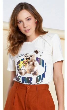T-shirt Urso Fire Lov.it atacado