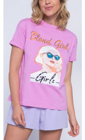 T-shirt Blond Girl Lov.it atacado