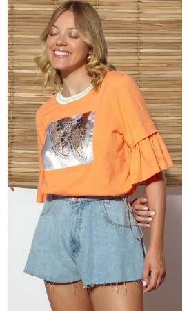 T-shirt Cropped Shoes lov.it atacado