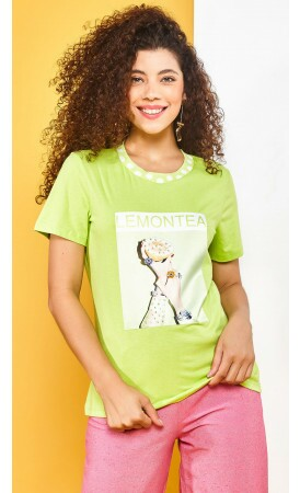 T-shirt Lemontea lov.it atacado