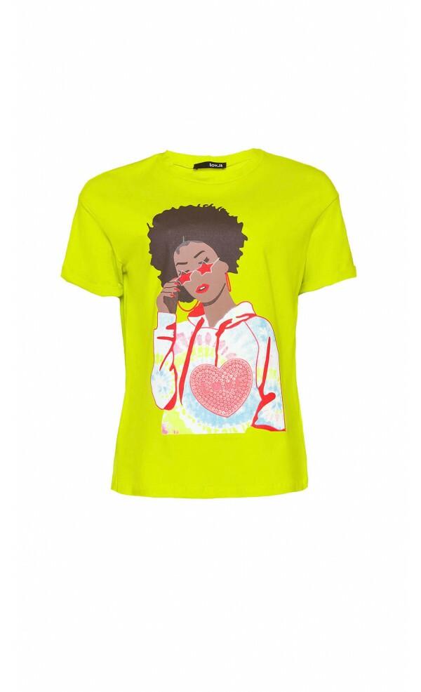 T-shirt Menina óculos Star Lov.it atacado