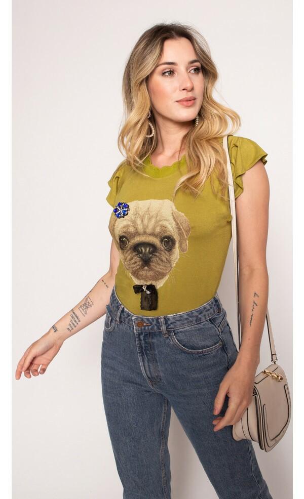alt-Blusa Cropped Dog Cute